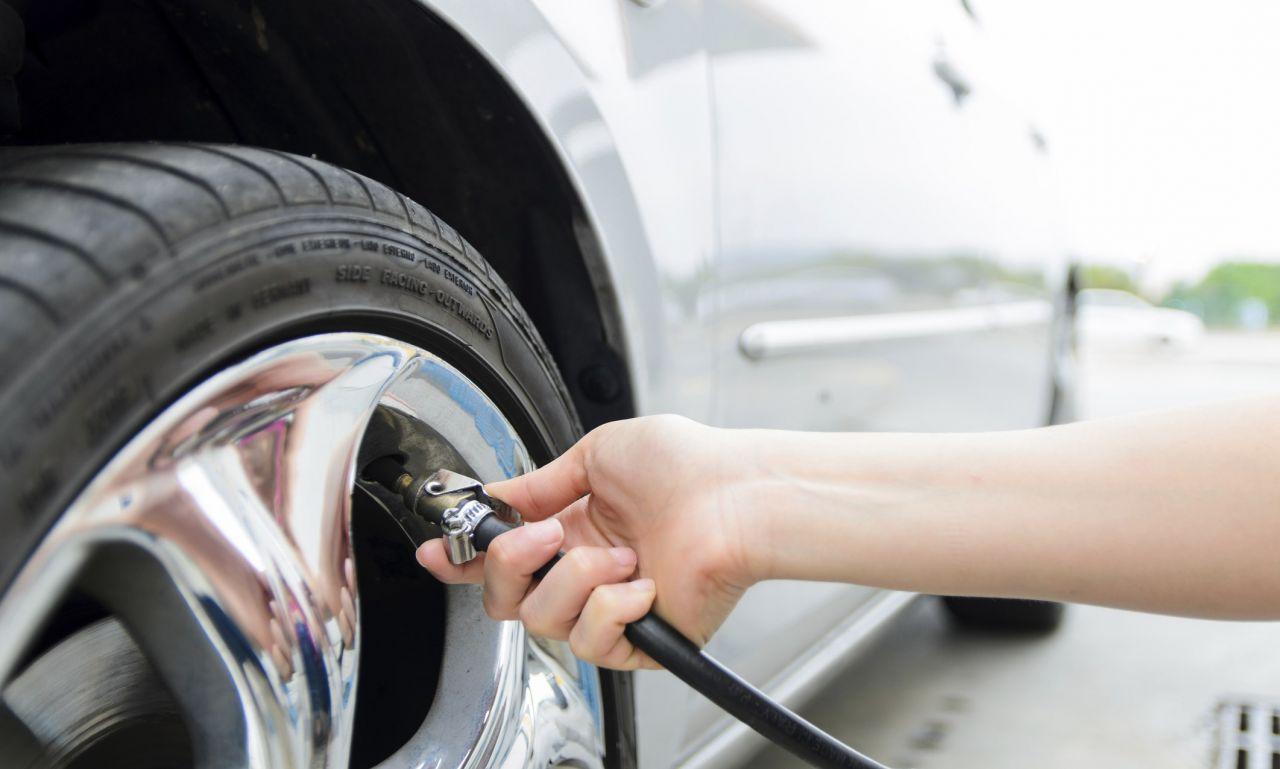 Checking-the-tire-pressure