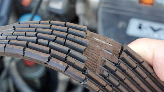 Serpentine-Belt-abrasion